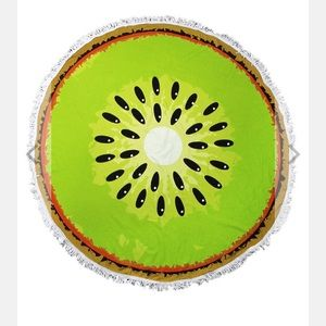 Other - Kiwi Slice Round Beach Towel